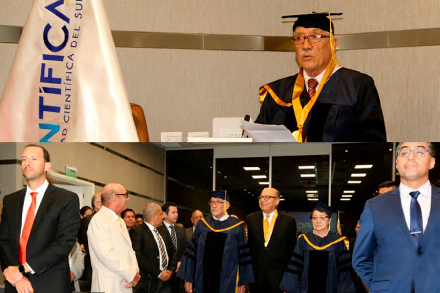 Dr. Manuel Rosemberg appointed new rector of the Scientific University of the South (Peru)