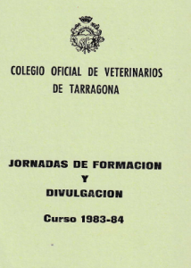 Programme of 1983-84 Training Days celebrated at the Veterinary College of Tarragona