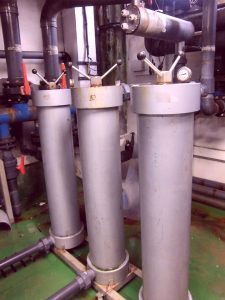 solids removal filter