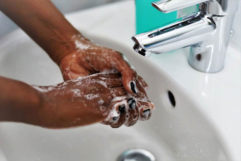 Hand washing is a very important biosecurity measure